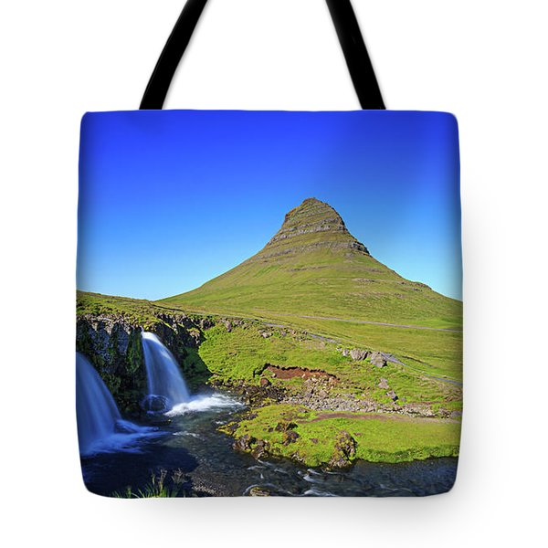 Tote Bag featuring the photograph Kirkjufell Iceland by Edward Fielding
