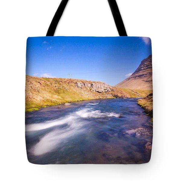 Kirkjufell Iceland Tote Bag