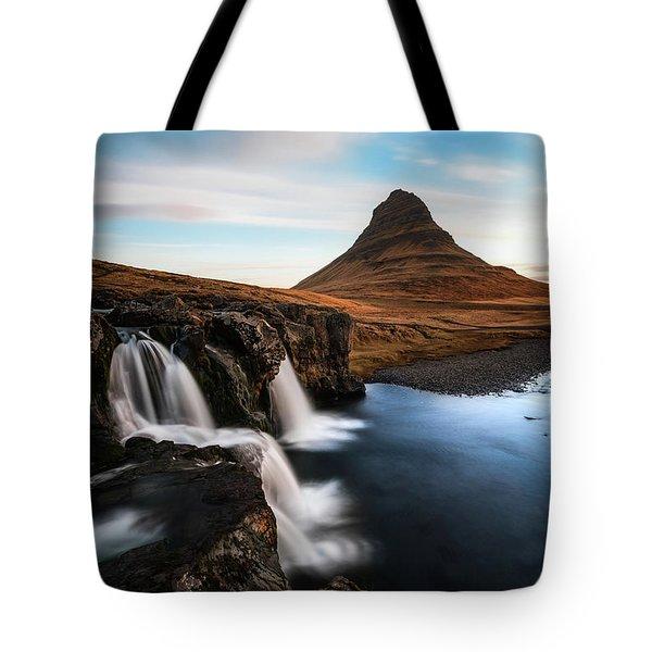 Kirkjufellsfoss Waterfalls Iceland Tote Bag