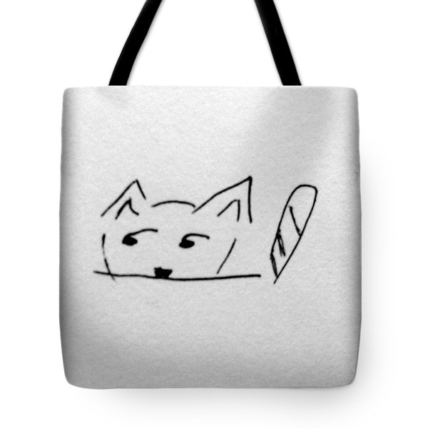 Kishi The Cat Tote Bag by Alohi Fujimoto