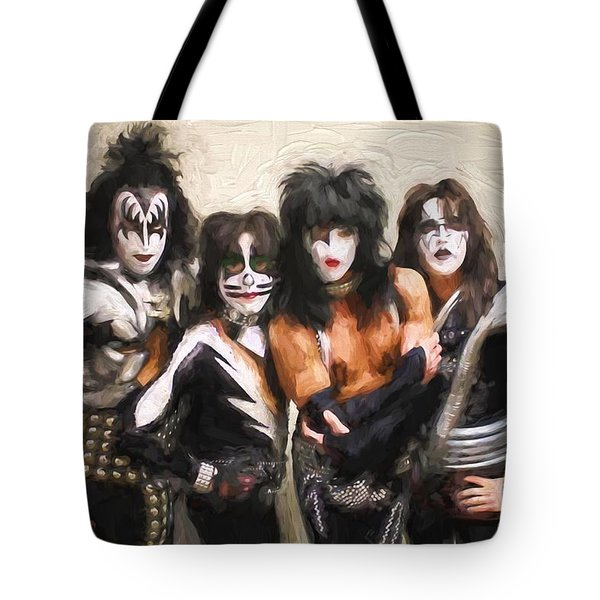 Kiss Band Tote Bag