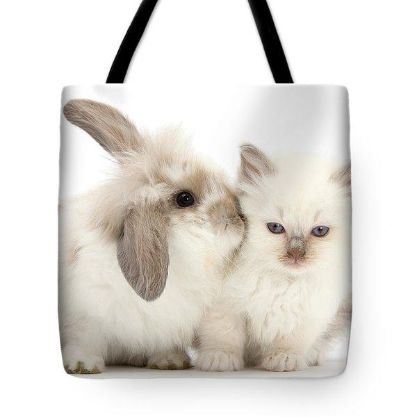 Kiss Her Fluffy Cheek Tote Bag