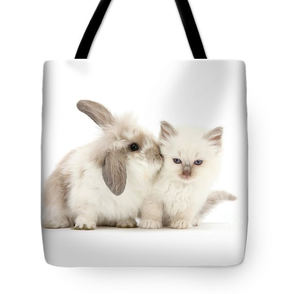 Kiss Her Fluffy Cheek Tote Bag