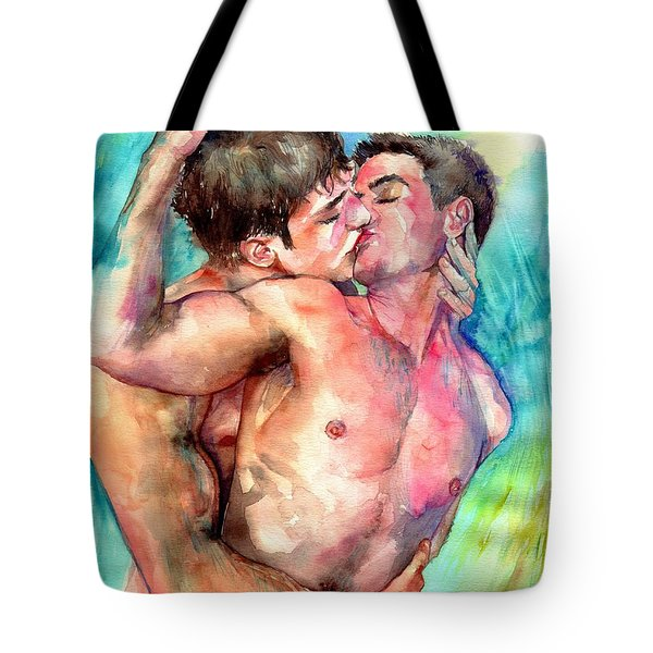 Kiss In The Light Tote Bag