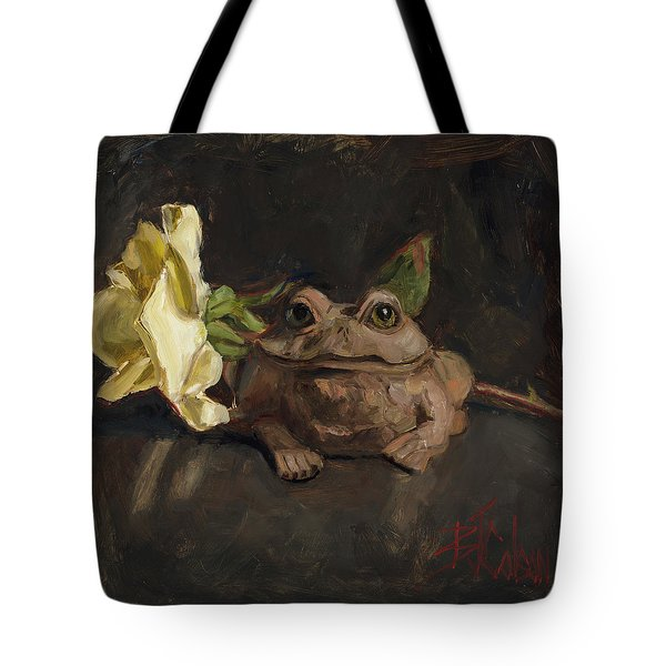 Tote Bag featuring the painting Kiss Me And Find Out by Billie Colson