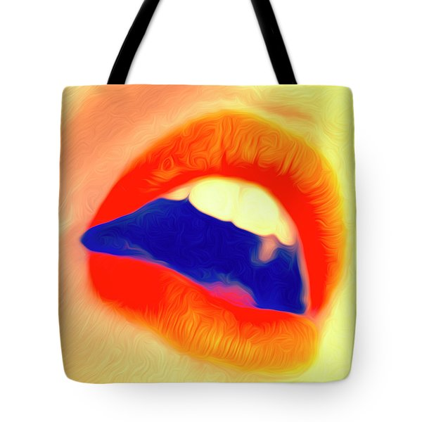 Tote Bag featuring the photograph Kiss Me- by JD Mims