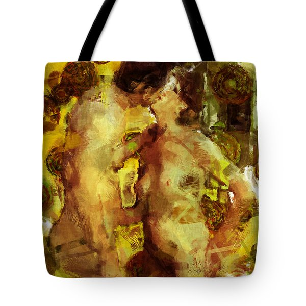 Kiss Me Tote Bag by Kurt Van Wagner