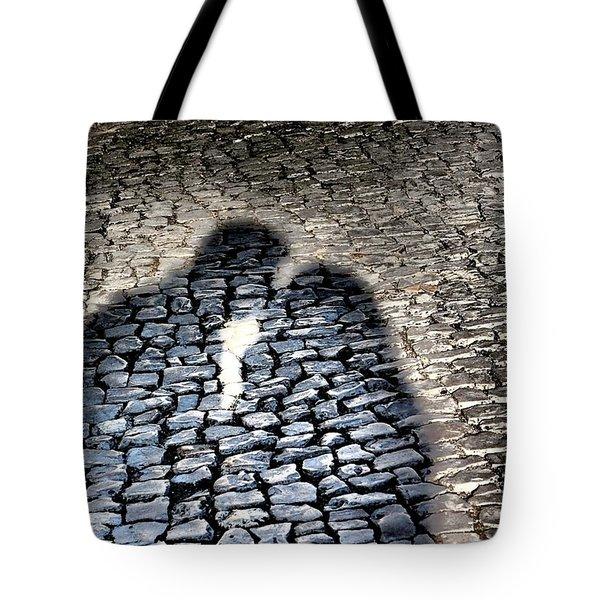Kiss Me On The Cobblestone Tote Bag