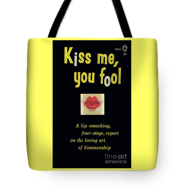 Tote Bag featuring the painting Kiss Me, You Fool by Unknown Artist