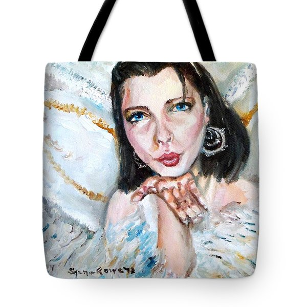 Kiss Of An Angel Tote Bag by Shana Rowe Jackson