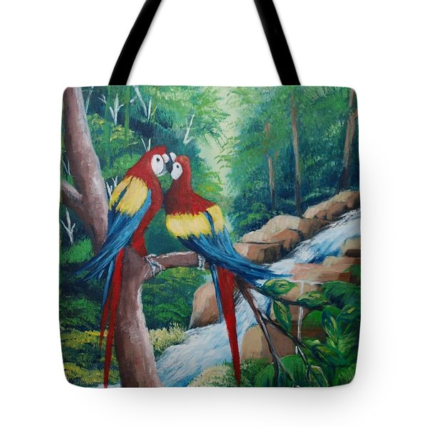 Kiss On The Forest Tote Bag