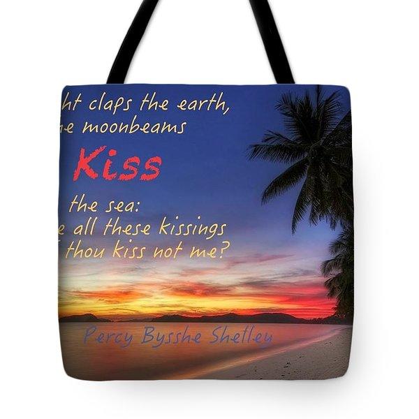 Kiss The Sea Tote Bag by David Norman
