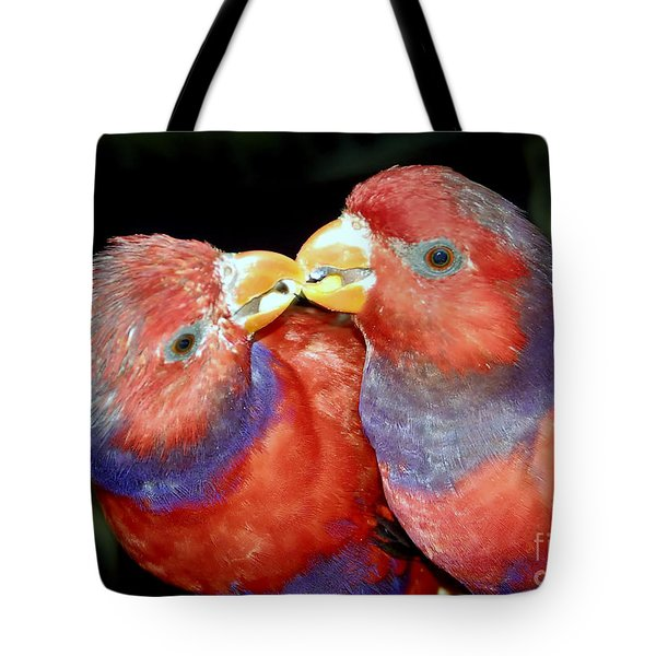 Kissing Birds Tote Bag by David Lee Thompson