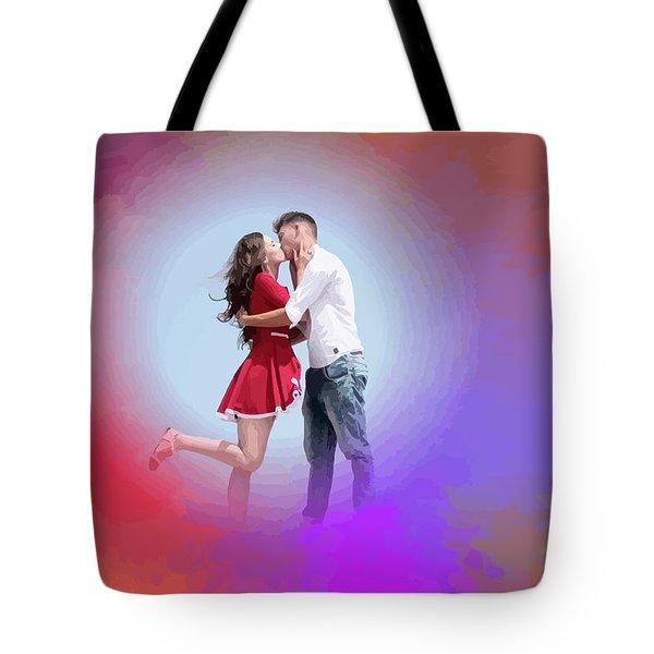 Kissing Couple Tote Bag