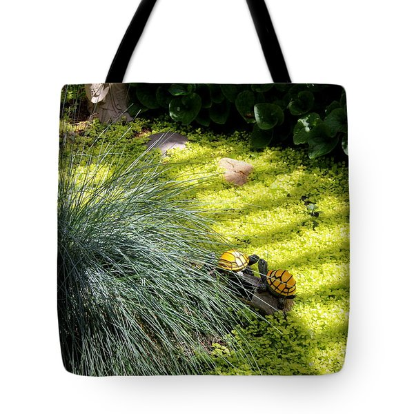 Tote Bag featuring the photograph Kissing Cousins by Marie Neder