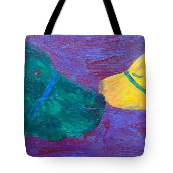 Kissing Dog Tote Bag by Donald J Ryker III