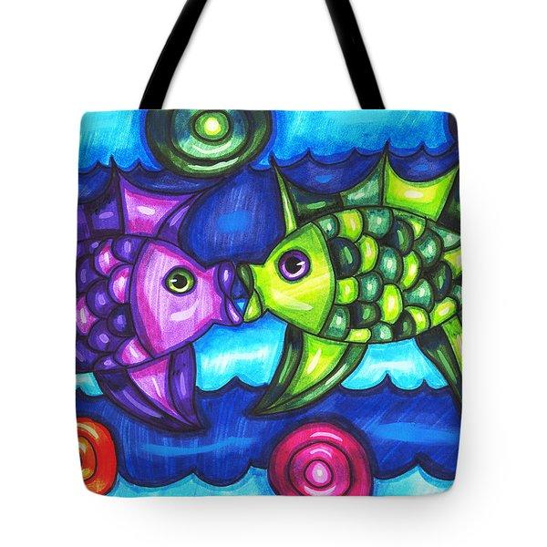Kissing Fish Tote Bag