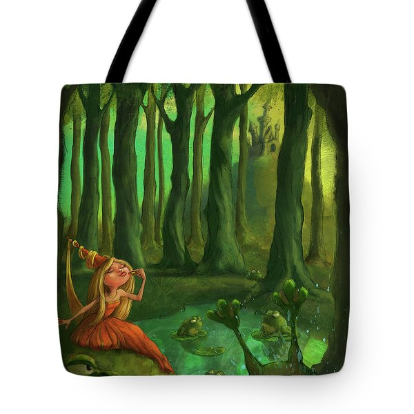 Kissing Frogs Tote Bag