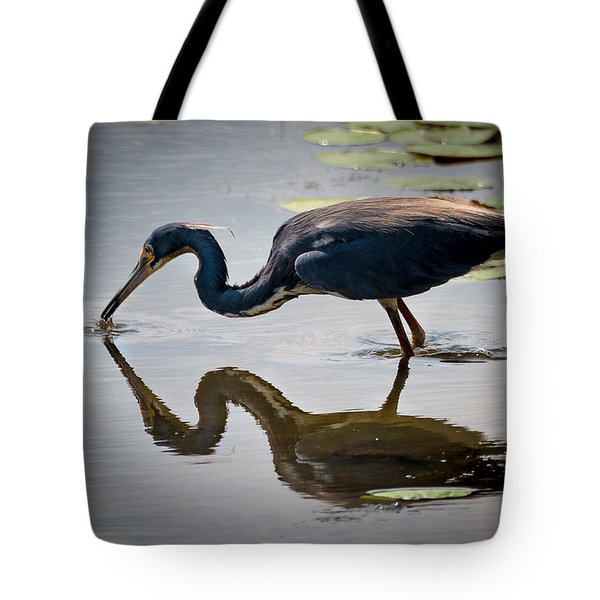 Kissing Heron Tote Bag