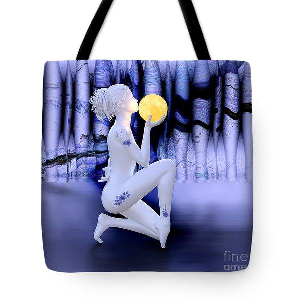 Kissing The Moon Tote Bag