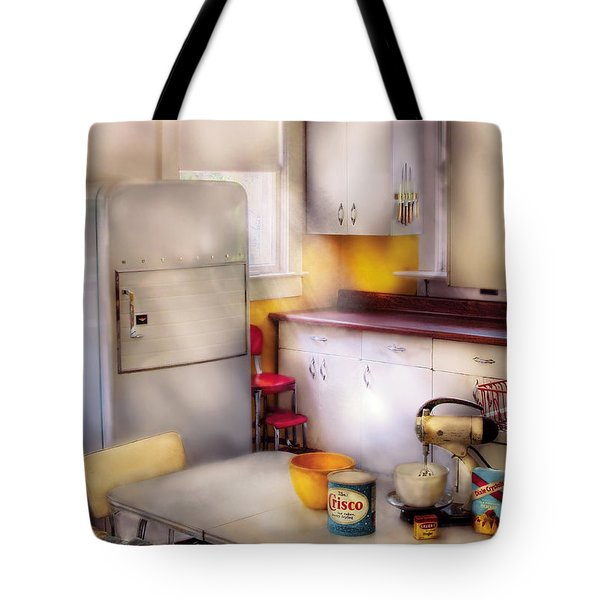 Kitchen - A 1960's Kitchen  Tote Bag by Mike Savad