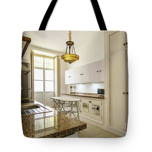 Tote Bag featuring the photograph Kitchen Apartment In The Heart Of Cadiz by Pablo Avanzini