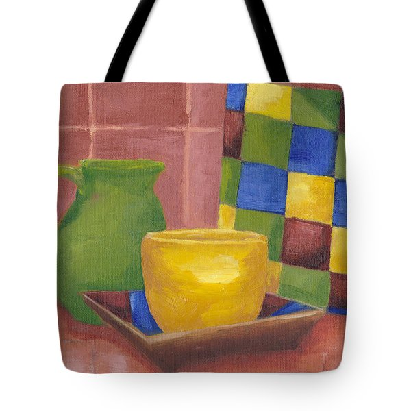 Kitchen Corner Tote Bag by Patricia Cleasby