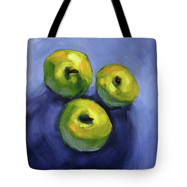 Tote Bag featuring the painting Kitchen Pears Still Life by Nancy Merkle