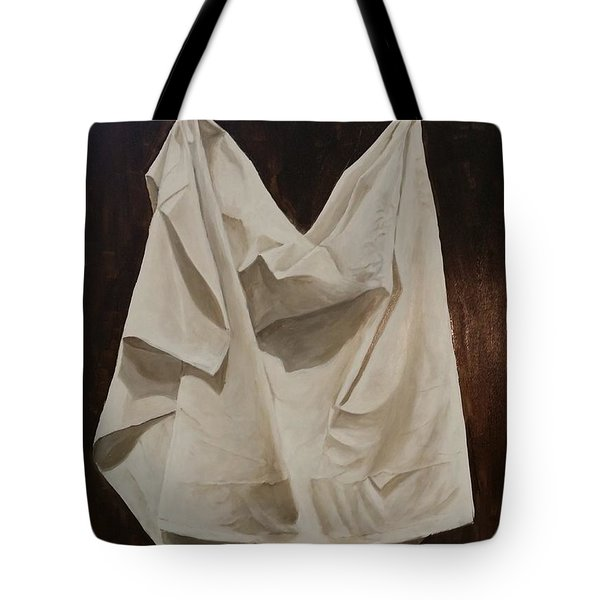 Tote Bag featuring the painting Painting Alla Rembrandt - Minimalist Still Life Study by Rosario Piazza