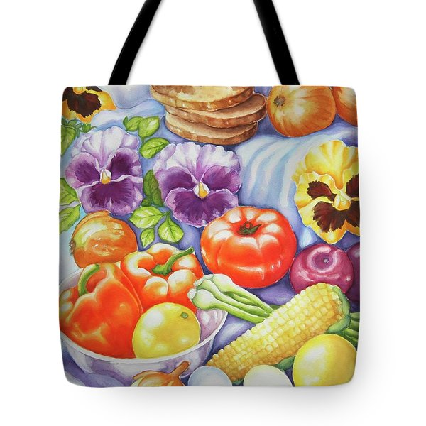 Kitchen Symphony Tote Bag by Inese Poga