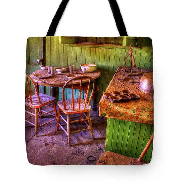 Kitchen Table Bodie California Tote Bag