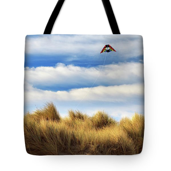 Tote Bag featuring the photograph Kite Over The Hill by James Eddy