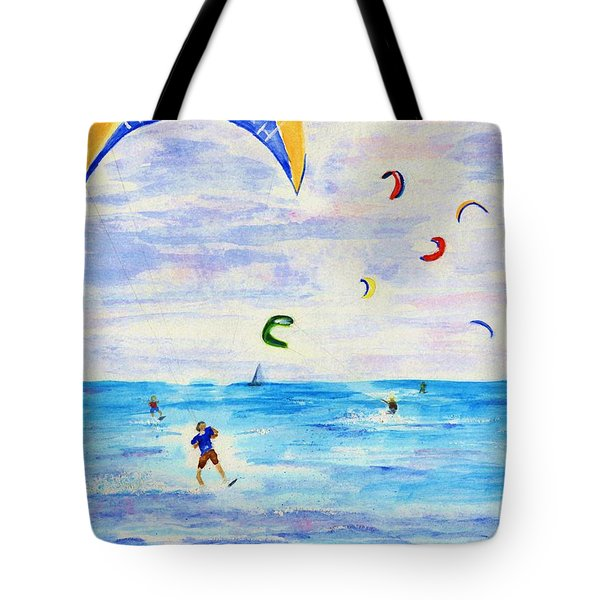 Kite Surfer Tote Bag by Jamie Frier
