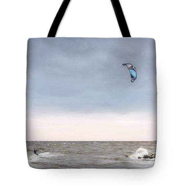 Kite Surfing On The Chesapeake Bay Tote Bag