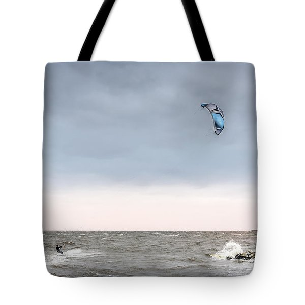 Kite Surfing On The Chesapeake Bay Tote Bag