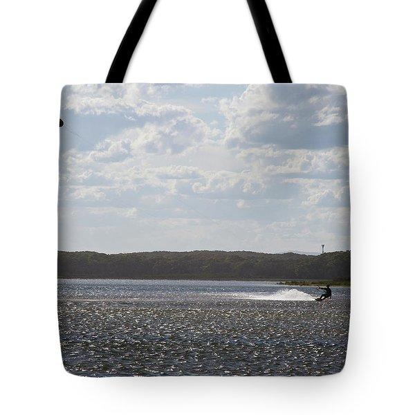 Tote Bag featuring the photograph Kiteboarding by Miroslava Jurcik