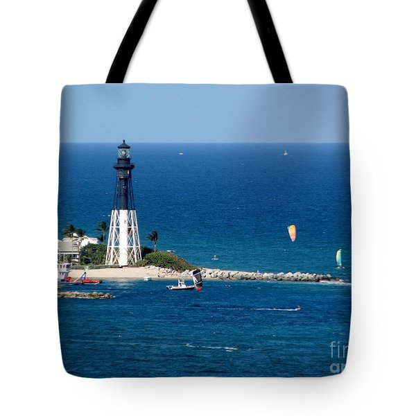 Kitesurfing And More At Pompano Tote Bag