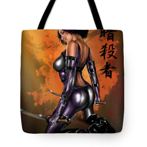 Tote Bag featuring the painting Kitsune by Pete Tapang
