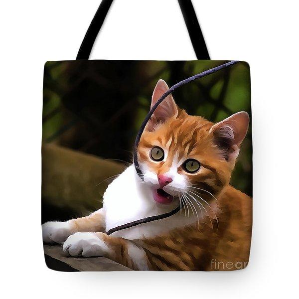 Kitten Portrait Player Tote Bag