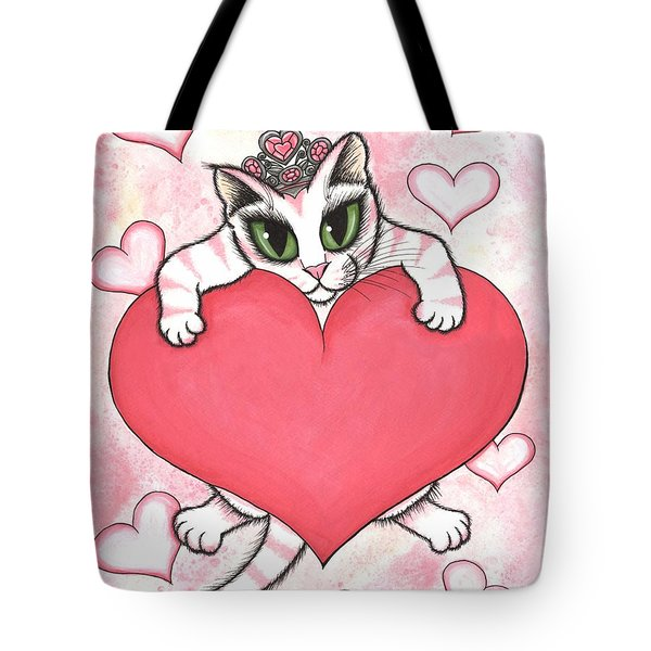 Kitten With Heart Tote Bag