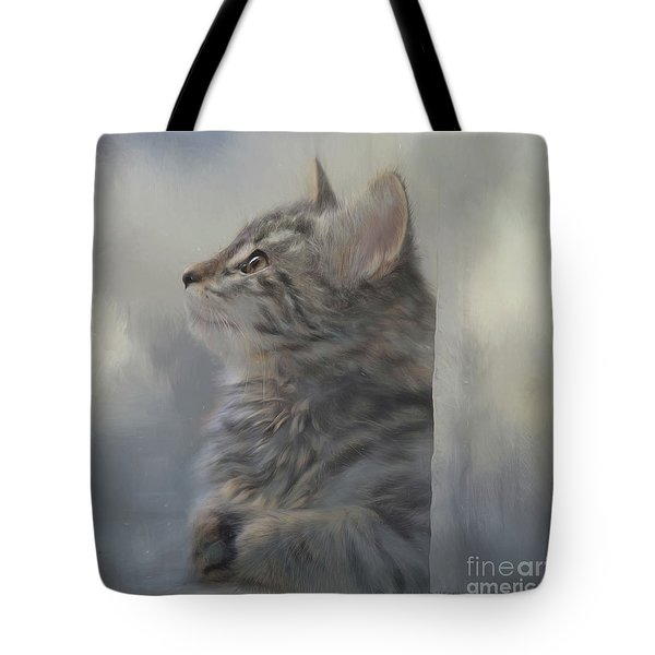 Kitten Zada Tote Bag by Kathy Russell