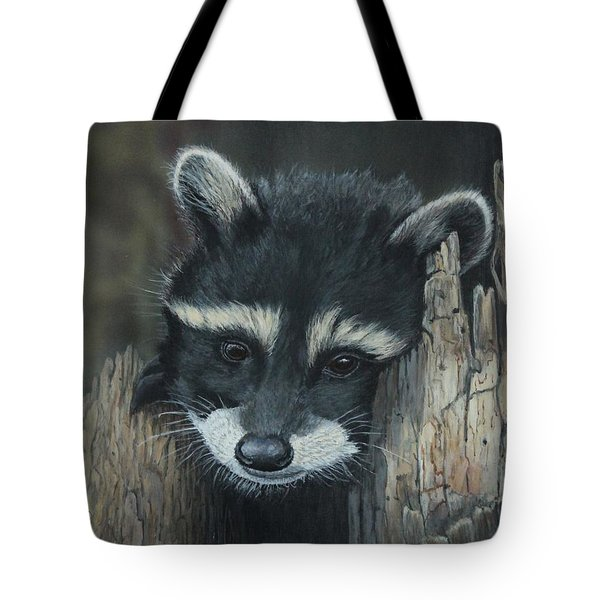 Kit...the Baby Raccoon Tote Bag