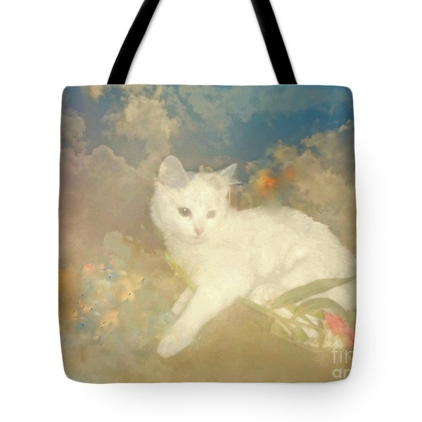 Tote Bag featuring the photograph Kitty Art Precious By Sherriofpalmsprings by Sherri  Of Palm Springs