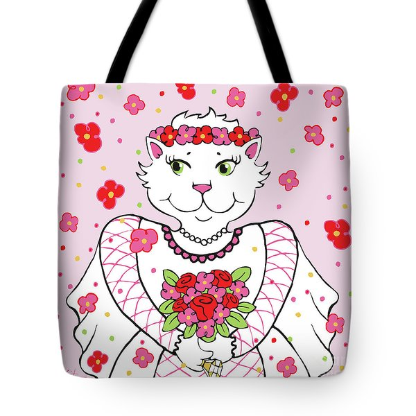 Kitty Bride Tote Bag