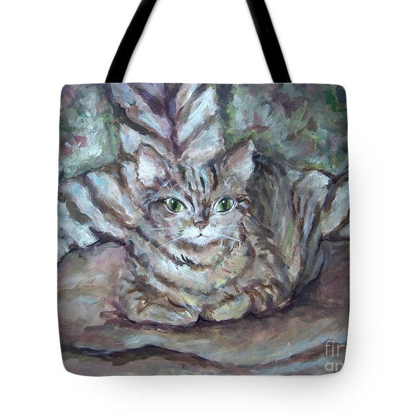 Kitty Camo Tote Bag