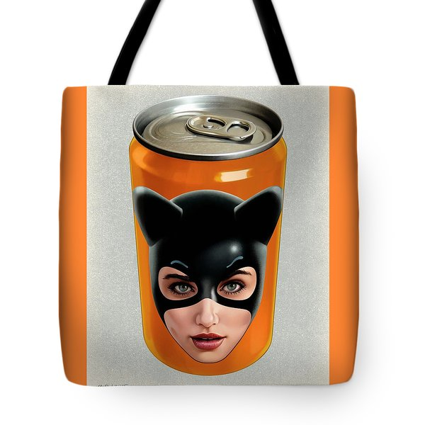 Kitty Can 2 Tote Bag by Udo Linke