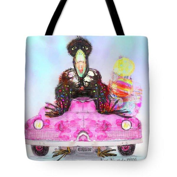 Kitty Car Crow Tote Bag