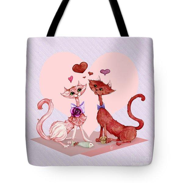Kitty Cat Love Tote Bag