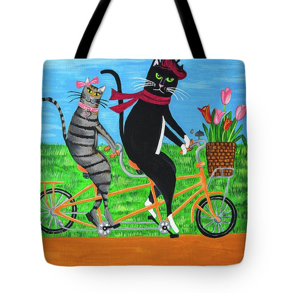 Kitty Cat Outing Tote Bag