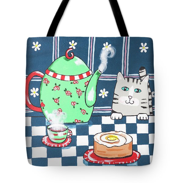 Kitty Cat Tea Time Tote Bag